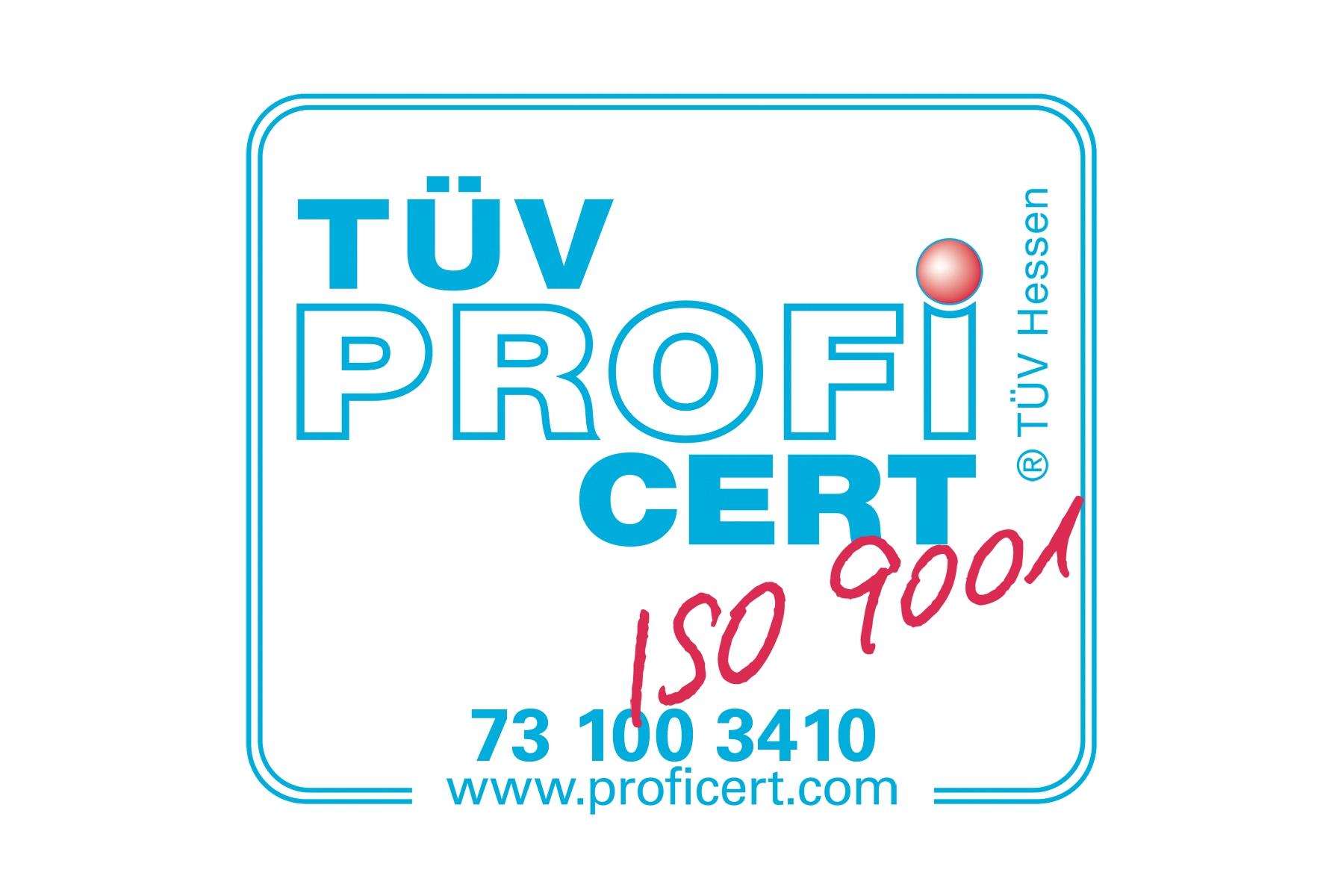 Logo TÜV ISO Zertifizierung